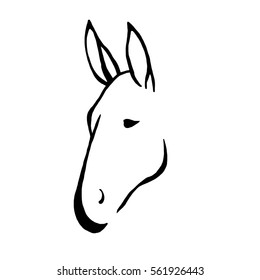 Donkey Head Outline