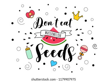Dont Eat Watermelon Seeds Mother Mama Stock Vector Royalty Free
