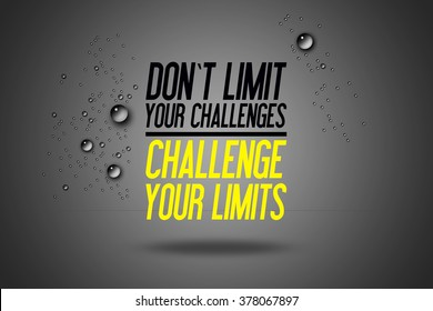 Don't Limit Your Challenges - Challenge Your Limits - Workout Motivation - Fitness Center - Motivational Quote - Sport Illustration - Inspirational - Card Calligraphy Art - Typography