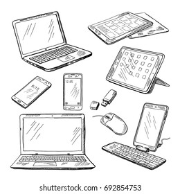 Computer Keyboard Sketch Images, Stock Photos & Vectors