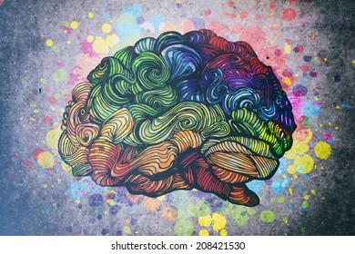 Doodles brain illustration