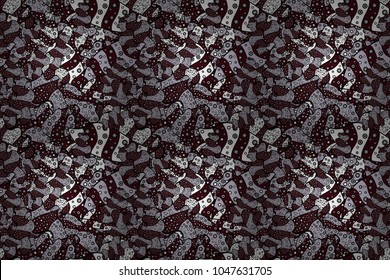 Doodles cute pattern. Black, brown and neutral on colors. It can be used on wallpaper, mug prints, baby apparels, wrapping boxes etc. Raster - stock. Nice background. Seamless Beautiful fabric pattern