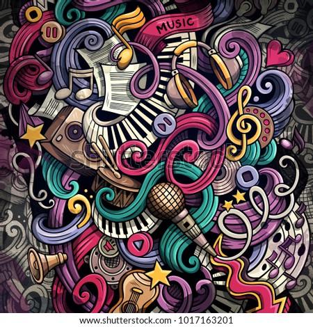 Doodles Musical Illustration Creative Music Background