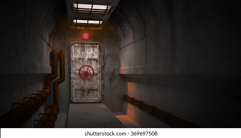 door to the  fallout shelter