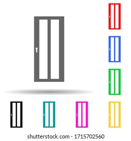 Door multi color style icon. Simple glyph, flat of door icons for ui and ux, website or mobile application