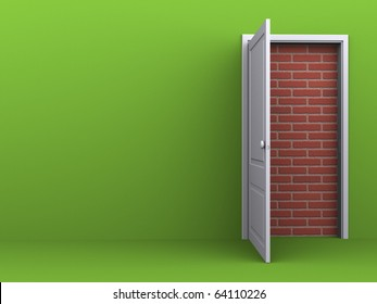 Door to nowhere, no way out