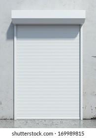 Door with roller shutter