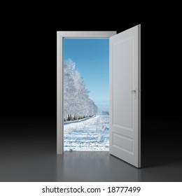 Door to winter.