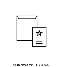 dossier, mailing, envelope icon. Element of marketing for mobile concept and web apps icon. Thin line icon for website design and development, app development. Premium icon