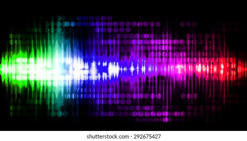 Dot background. Illustration. dark green blue purple red lights motion blur Abstract Background. wave. infographics.