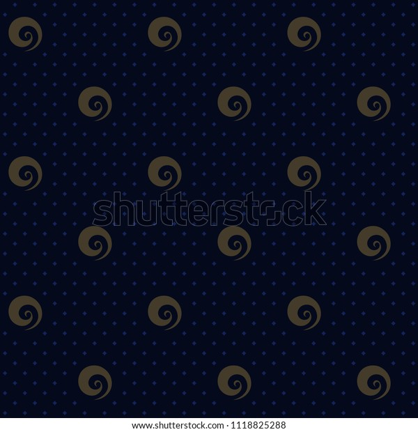 Dot Design Background Simple Medallion Motif Stock Illustration