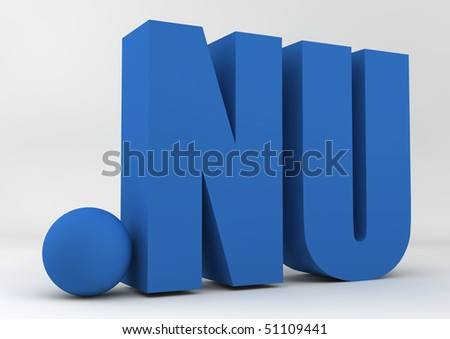 Dot Nu Website Domain Name Address Stock Illustration 51109441
