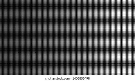 Dot Pixel Digital Background In Colorful For Design. Small Circle Or LED on black background. Similar To Television Screen