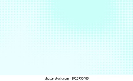 Dots halftone white blue and green color pattern gradient texture with technology digital background. Medicine healthcare with science concept.