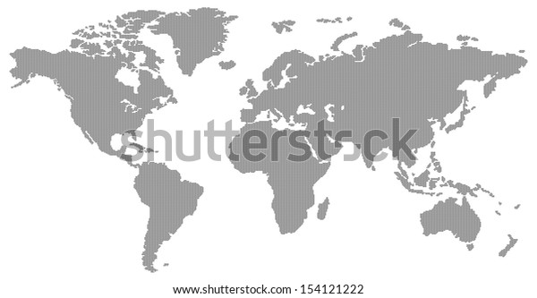 dotted contemporary black world map