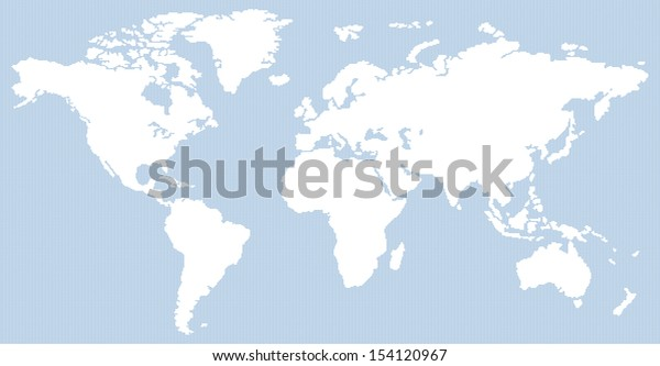 dotted contemporary white and blue world map