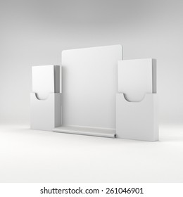 double blank holders with dl size brochures or flyers