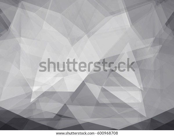 Double exposure of Black and white Low Poly trangular trendy hipster background for retro flyer, stylish brochure, poster, background and vintage applications.