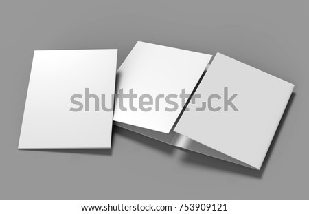 double gate fold brochure blank whiteのイラスト素材 753909121