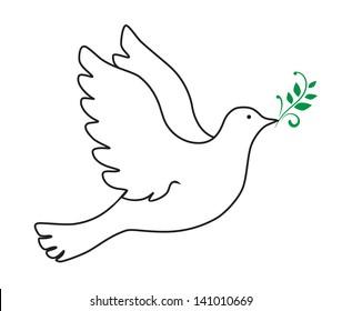 Dove Outline Images, Stock Photos & Vectors | Shutterstock