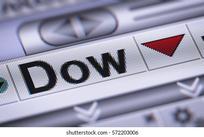 The Dow Jones Industrial Average. Down.