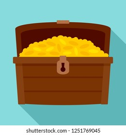 Dower chest icon. Flat illustration of dower chest icon for web design