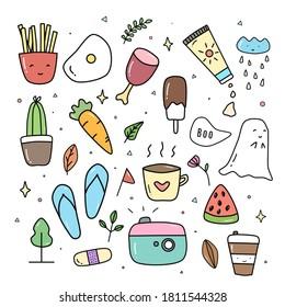 Download Free  Set Of Summer Doodle Fun