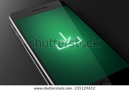 Download Smartphone Touchscreen Concept Stock Illustration - Royalty