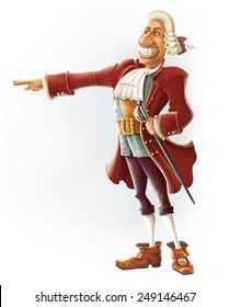 Dr. Livesey cartoon character Treasure Island