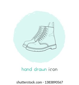 Dr martens icon line element.  illustration of dr martens icon line isolated on clean background for your web mobile app logo design.