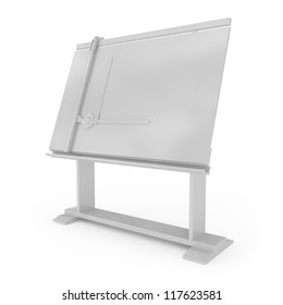 Drafting Table isolated on white - 3d illustration
