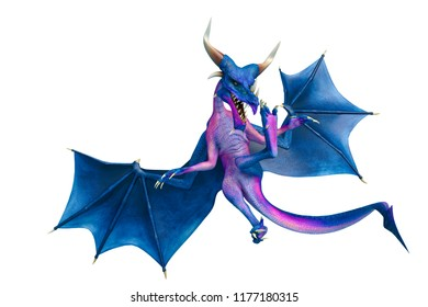 dragon cartoon in a white background will put some fun at yours creations, 3d illustration