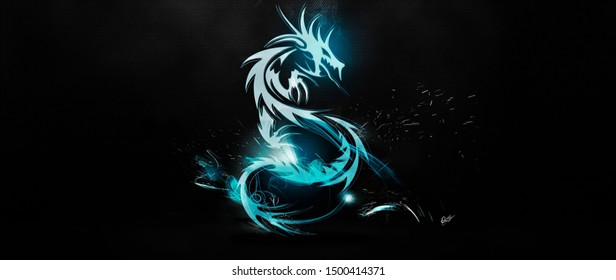 dragon classical light luster surface background