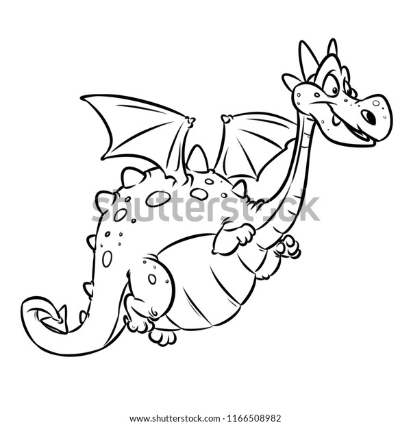 Dragon Fairy Animal Cheerful Cartoon Illustration Stock ...