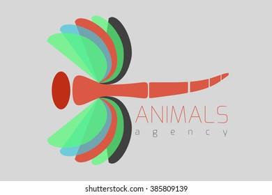 Dragon fly logo design