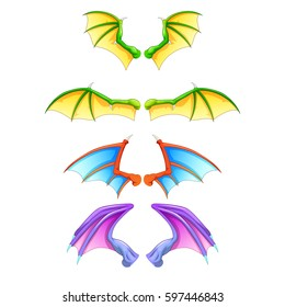 dragon wings isolated on white background.