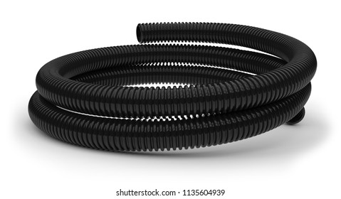 Drainage pipes isolated on white. 3D rendering