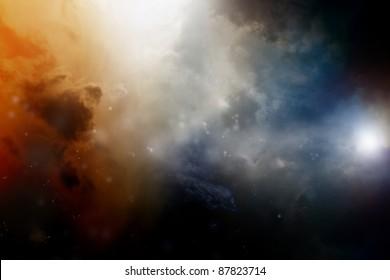 Dramatic background - dark sky, bright light