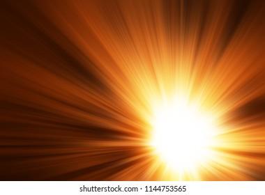 Dramatic sun rays illustration background