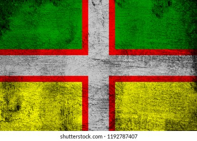 Drapeau Du Saguenay-Lac-Saint-Jean grunge and dirty flag illustration. Perfect for background or texture purposes.