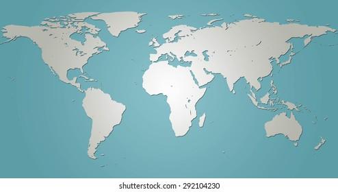 Draw Map World Simple Format Pattern Stock Illustration 292104239