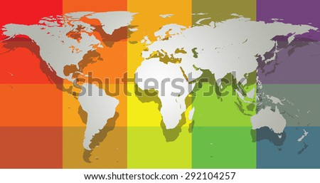 Draw Map World Simple Format Pattern Stock Illustration 292104257 ...