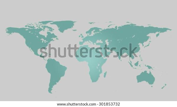 Draw Map World Simple Format Pattern Stock Illustration ...