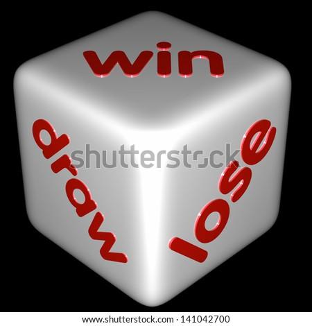 Draw Win Lose White Dice Words Stock Illustration 141042700