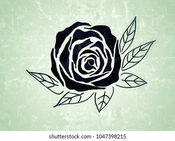 Line Drawing Of Rose Plant : How to draw a rose steps