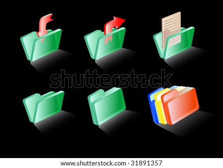 drawing computer icons glass folders documents stock illustration