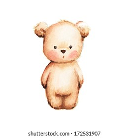 Drawing of Cute Teddy Bear