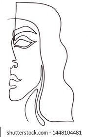 Drawing a face with one line