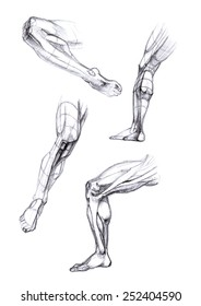 drawing feet in the corners