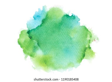drawing green watercolor.color shades image